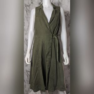 Anthropologie Building 18 Green Wrap Dress